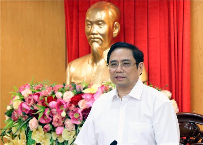 Đồng chí Phạm Minh Chính, Ủy viên Bộ Chính trị, Bí thư Trung ương Đảng, Trưởng Ban Tổ chức Trung ương. Ảnh: TTXVN