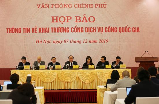 Quang cảnh cuộc họp báo. Ảnh: VGP/Thu Giang
