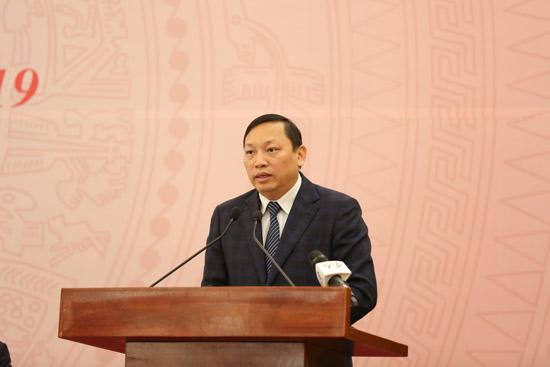 Ông Ngô Hải Phan, Cục trưởng Cục Kiểm soát TTHC (VPCP) giới thiệu vè Cổng DVCQG. Ảnh: VGP/Thu Giang