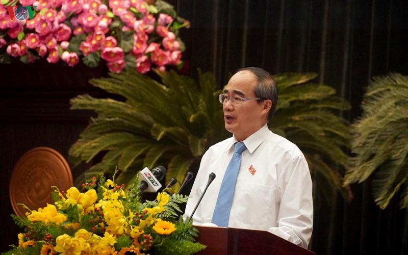 Bí thư Thành ủy TPHCM Nguyễn Thiện Nhân.