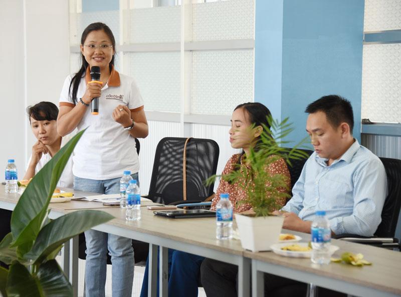 Doanh nghiệp khởi nghiệp trao đổi ý kiến tại chương trình.
