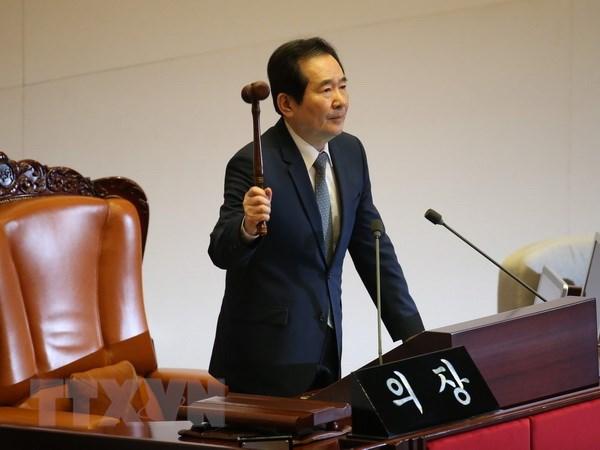 Chủ tịch Quốc hội Hàn Quốc Chung Sye-kyun. Ảnh: EPA/TTXVN