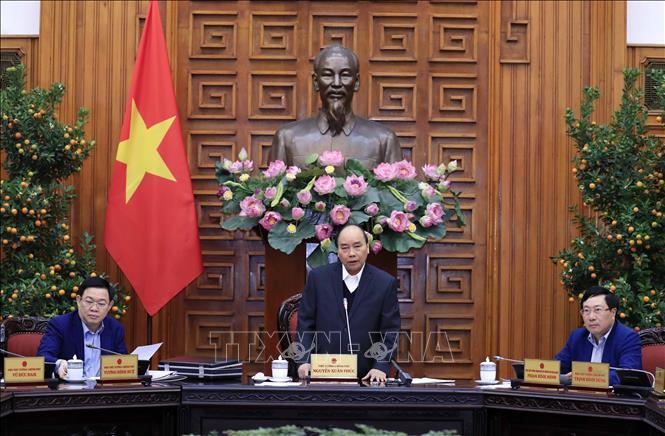 Thủ tướng Nguyễn Xuân Phúc phát biểu chỉ đạo. Ảnh: Thống Nhất/TTXVN