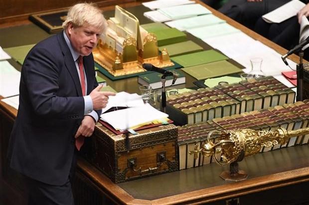 Thủ tướng Anh Boris Johnson tại cuộc họp Quốc hội ở London, ngày 22-1-2020. Ảnh: AFP/TTXVN