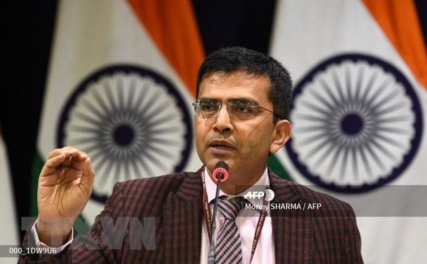 Người phát ngôn Bộ Ngoại giao Ấn Độ Raveesh Kumar. Ảnh: AFP/TTXVN