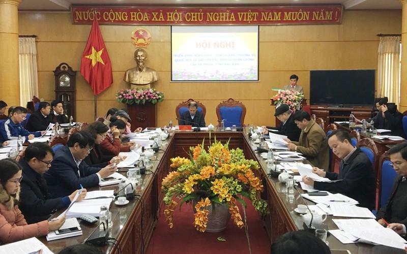 Tỉnh Bắc Kạn công bố Nghị quyết của Ủy ban Thường vụ Quốc hội về sắp xếp đơn vị hành chính cấp xã.