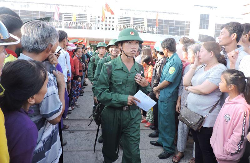 Ngày 13-2-2020, toàn tỉnh sẽ tổ chức lễ giao nhận quân. Ảnh: P.Tuyết