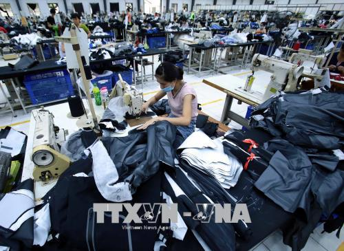 Sản phẩm điện tử, thủy sản và dệt may sẽ hưởng lợi lớn nhất trong số các mặt hàng xuất khẩu khi EVFTA có hiệu lực. Ảnh: TTXVN