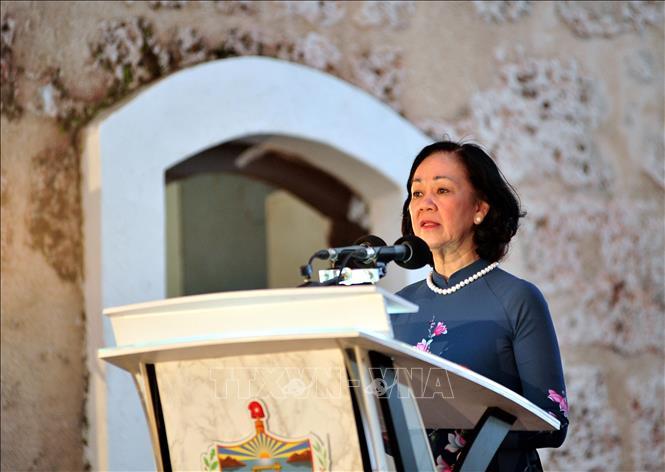 Trưởng Ban Dân vận Trung ương Trương Thị Mai. Ảnh: Lê Hà/TTXVN