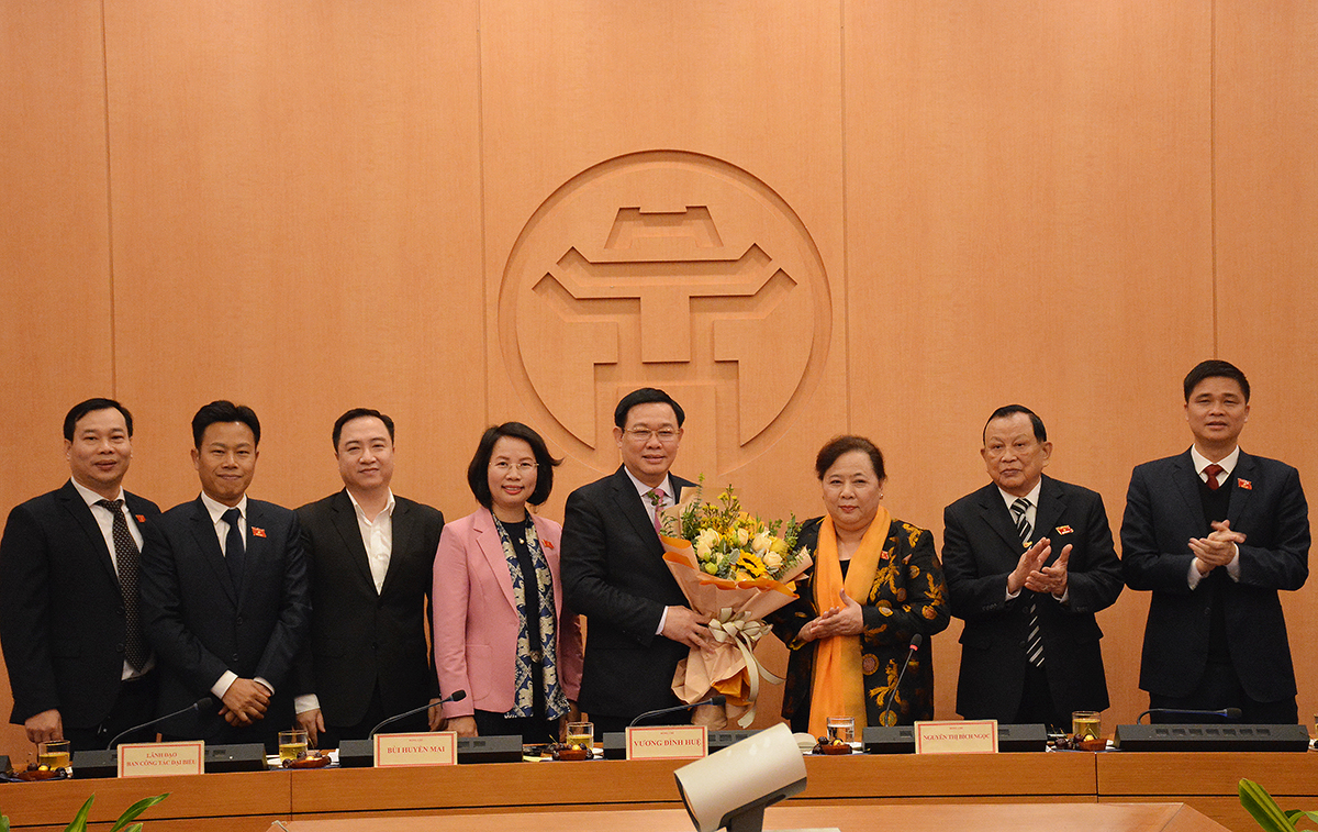 Bí thư Thành ủy Hà Nội Vương Đình Huệ được bầu làm Trưởng Đoàn ĐBQH Hà Nội.