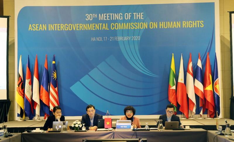 Cuộc họp Ủy ban liên Chính phủ ASEAN về Nhân quyền lần thứ 30. Ảnh: vov.vn