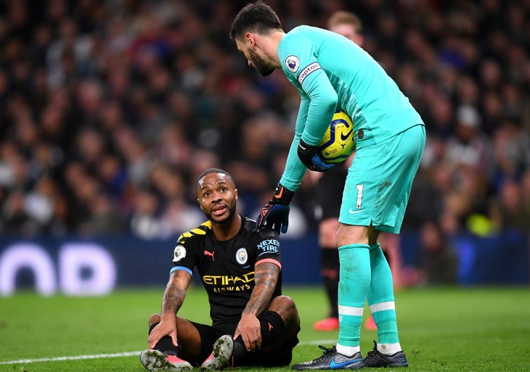 Sterling chấn thương gân kheo từ trận thua Tottenham