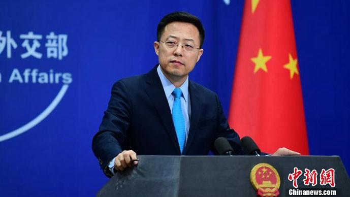 Tân phát ngôn viên của Bộ Ngoại giao Trung Quốc Triệu Lập Kiên. Ảnh: Chinanews.com.