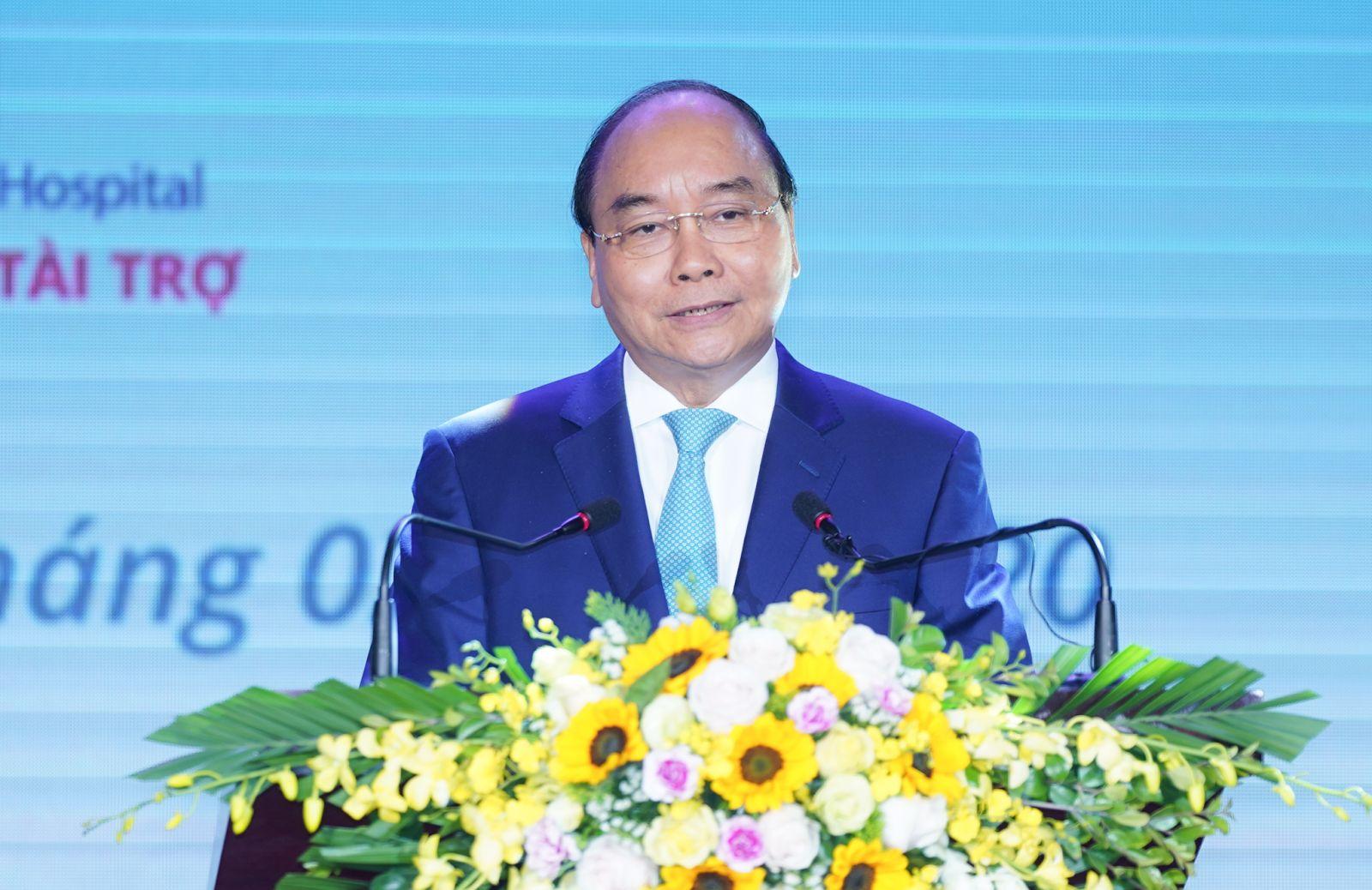 Thủ tướng Nguyễn Xuân Phúc phát biểu tại buổi lễ. Ảnh: VGP/Quang Hiếu