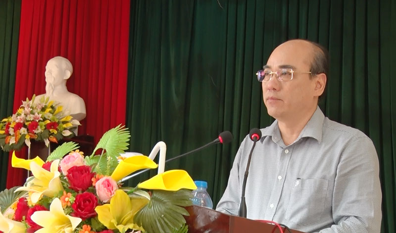 Bí thư Thành ủy - Nguyễn Văn Tuấn phát biểu chỉ đạo hội nghị