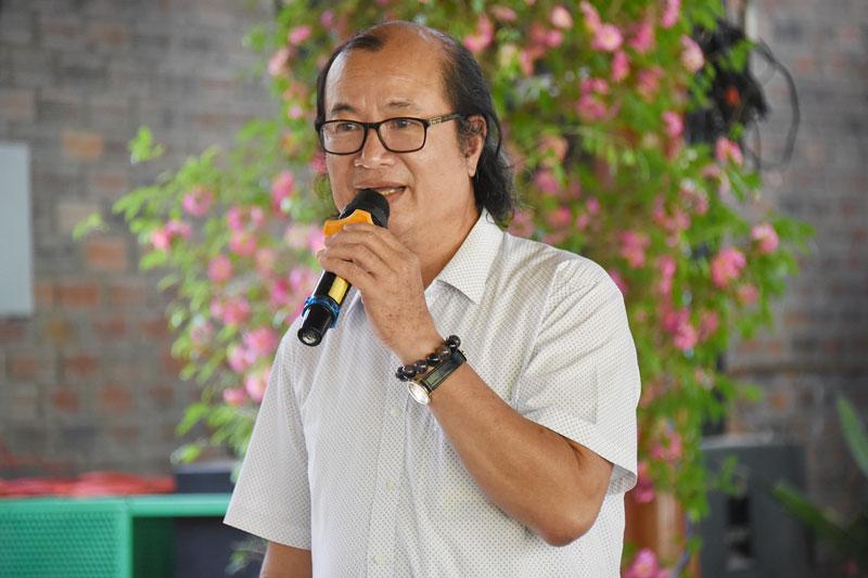 Ông Trần Duy Phương - Chủ tịch Hiệp hội du lịch Bến Tre phát biểu tại buổi họp mặt.