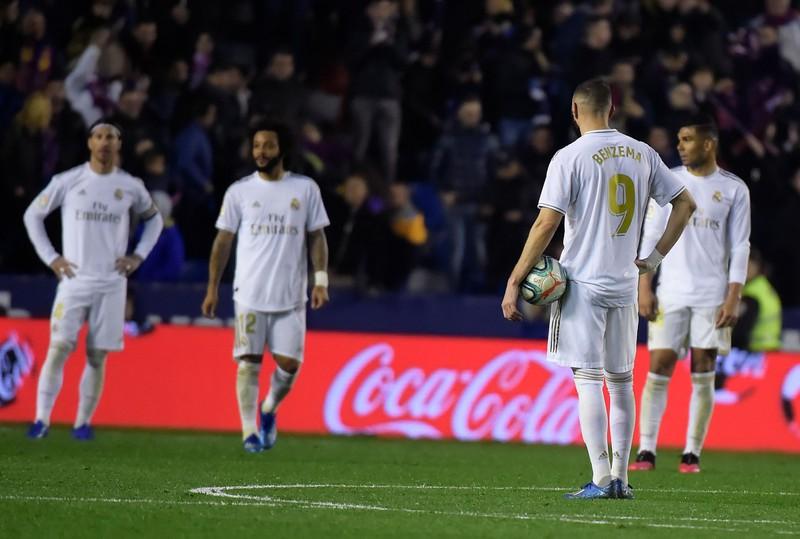 Các cầu thủ Real Madrid bị cách ly, La Liga tạm hoãn vì Covid-19. Ảnh: Getty