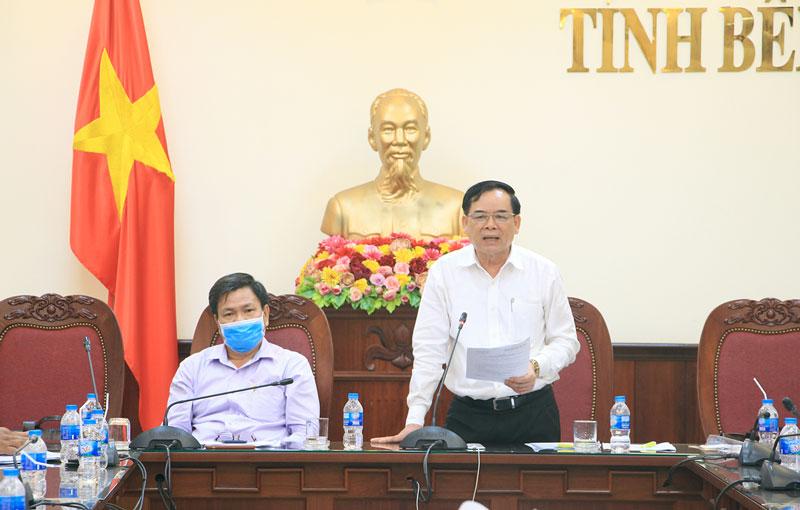Phó Bí thư Thường trực Tỉnh ủy Trần Ngọc Tam phát biểu chỉ đạo.