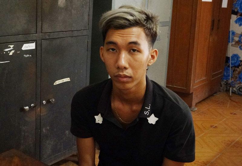Nguyễn Thanh Minh Trí tại cơ quan công an.