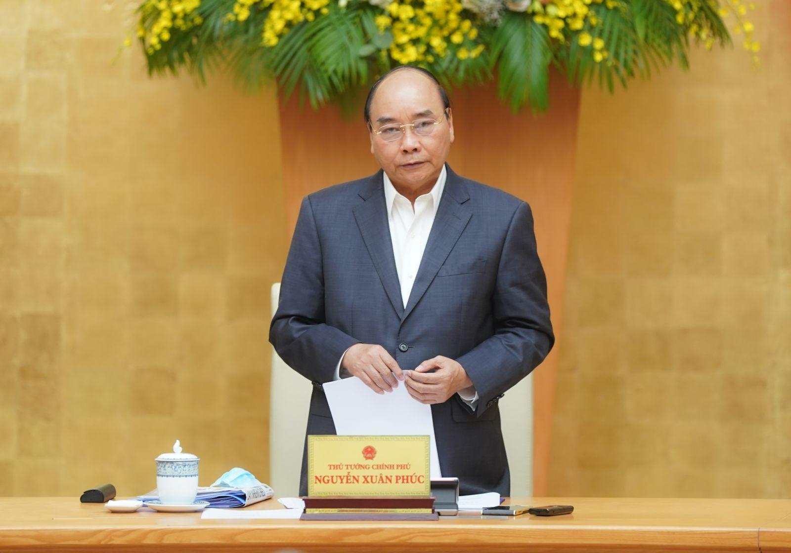 Thủ tướng phát biểu tại cuộc làm việc - Ảnh: VGP/Quang Hiếu