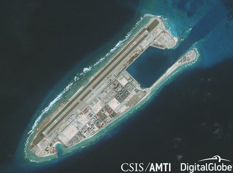 Đá Chữ Thập bị Trung Quốc cải tạo trái phép ở Biển Đông.