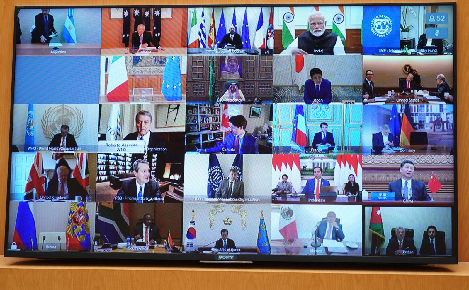 Quang cảnh phiên họp Hội nghị thượng đỉnh G20 ở Osaka ngày 29-6-2019. Ảnh tư liệu: AFP/TTXVN
