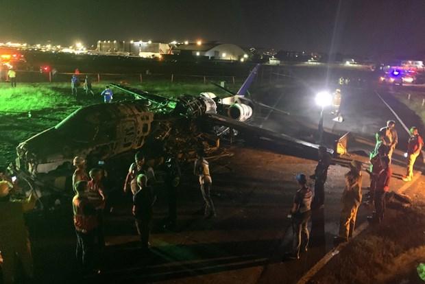 Hiện trường vụ tai nạn máy bay thảm khốc. Nguồn: EPA