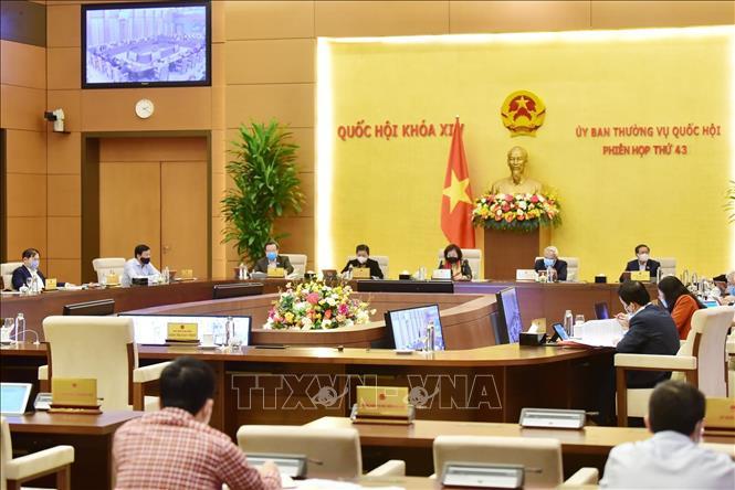 Quang cảnh một phiên họp của Ủy ban Thường vụ Quốc hội. Ảnh: Trọng Đức/TTXVN