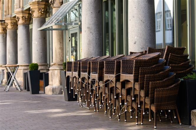 Nhà hàng tại Erfurt, Đức, đóng cửa ngày 1-4-2020 trong bối cảnh dịch COVID-19 lan rộng. Ảnh: THX/ TTXVN