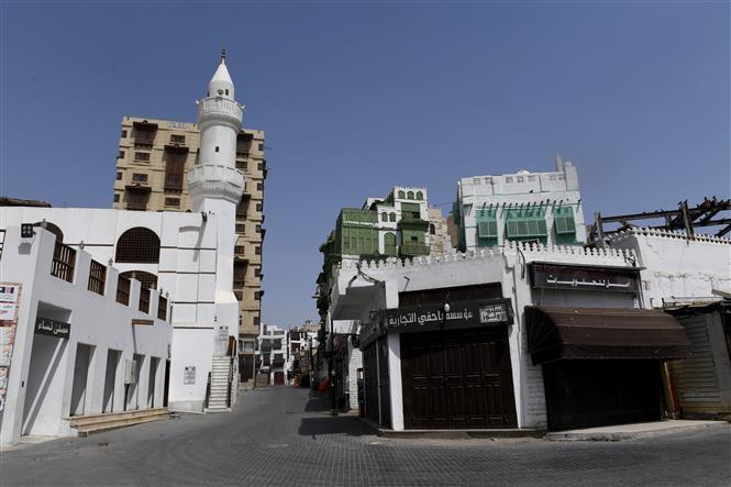 Cảnh vắng vẻ tại thành phố Jeddah, Saudi Arabia do dịch COVID-19 ngày 2-4-2020. Ảnh: AFP/TTXVN
