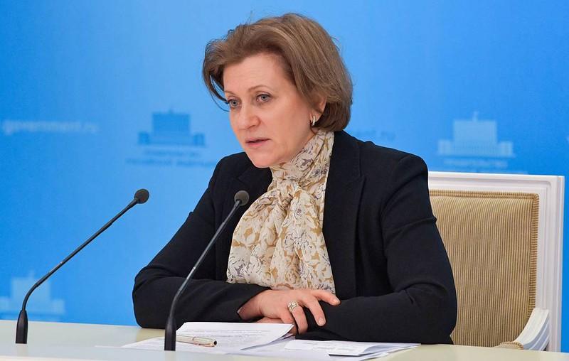 Người đứng đầu Cơ quan giám sát và bảo vệ quyền lợi, sức khoẻ người tiêu dùng Liên bang Nga (Rospotrebnadzor) Anna Popova (Ảnh: Tass)