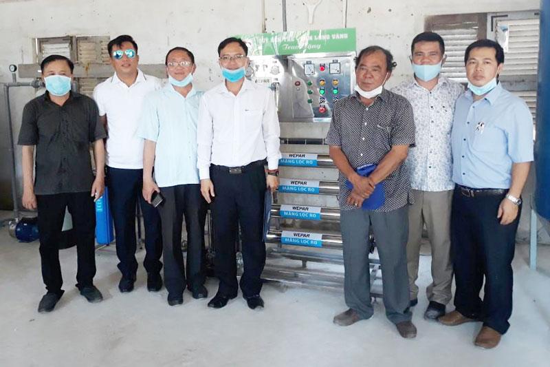Trao hệ thống xử lý nước ở An Hóa, huyện Châu Thành