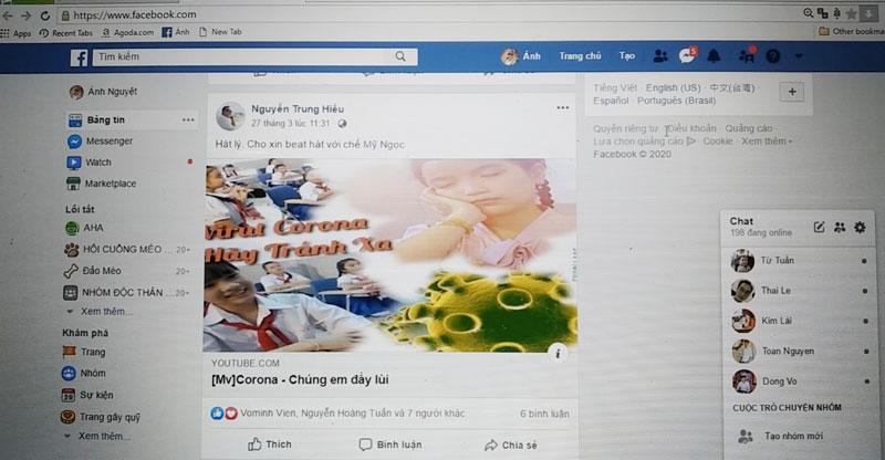 Facebook bạn Nguyễn Trung Hiếu thường xuyên chọn lọc bài viết, hình ảnh về các hoạt động phòng chống dịch Covid từ các trang báo chính thống.