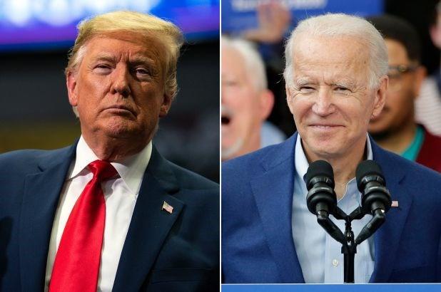Ông Joe Biden (phải) dẫn trước Tổng thống Trump 6 điểm tại bang Florida. Ảnh: AP