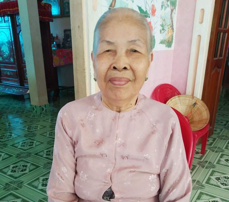 Mẹ Lê Thị Nghi đã tích cực ủng hộ công tác phòng chống dịch Covid-19.