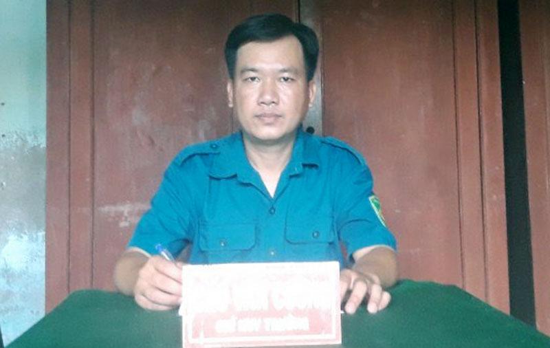 Chỉ huy trưởng Ban Chỉ huy Quân sự xã Tân Phong Cao Văn Cường.