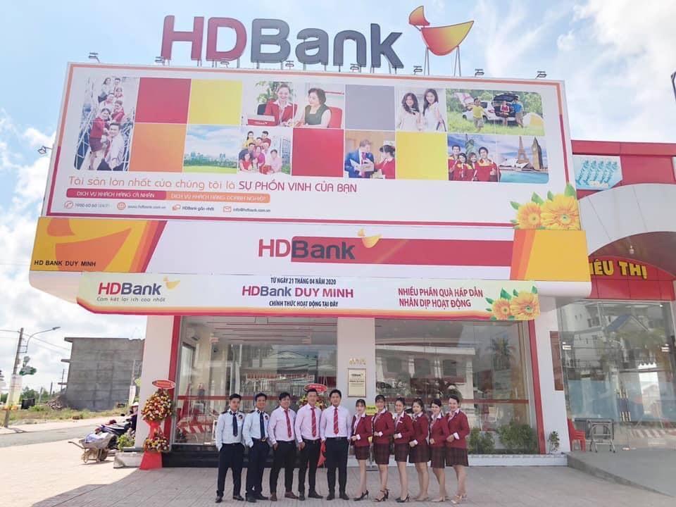Ngân hàng HD Bank chính thức khai trương đi vào hoạt động tại Trung Tâm thương mại Thạnh Phú.