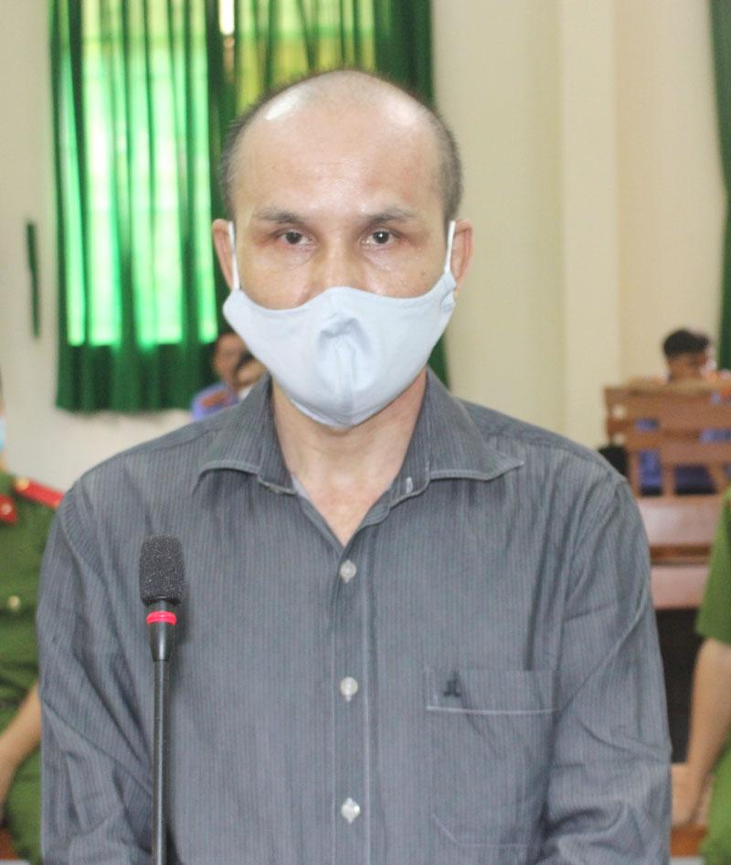 Bị cáo Huỳnh Văn Trai tại phiên tòa hình sự sơ thẩm.
