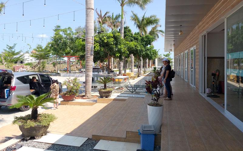 Không gian tại Khu liên hợp văn hóa - thể thao - du lịch Cửu Long, điểm đến mới tại thị trấn Thạnh Phú.