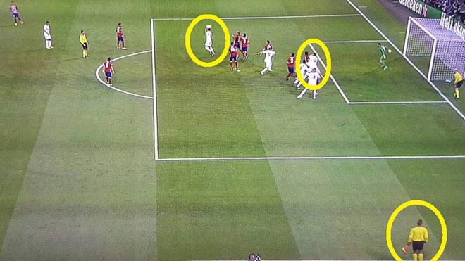 Bàn thắng của Ramos được trọng tài thừa nhận đã việt vị