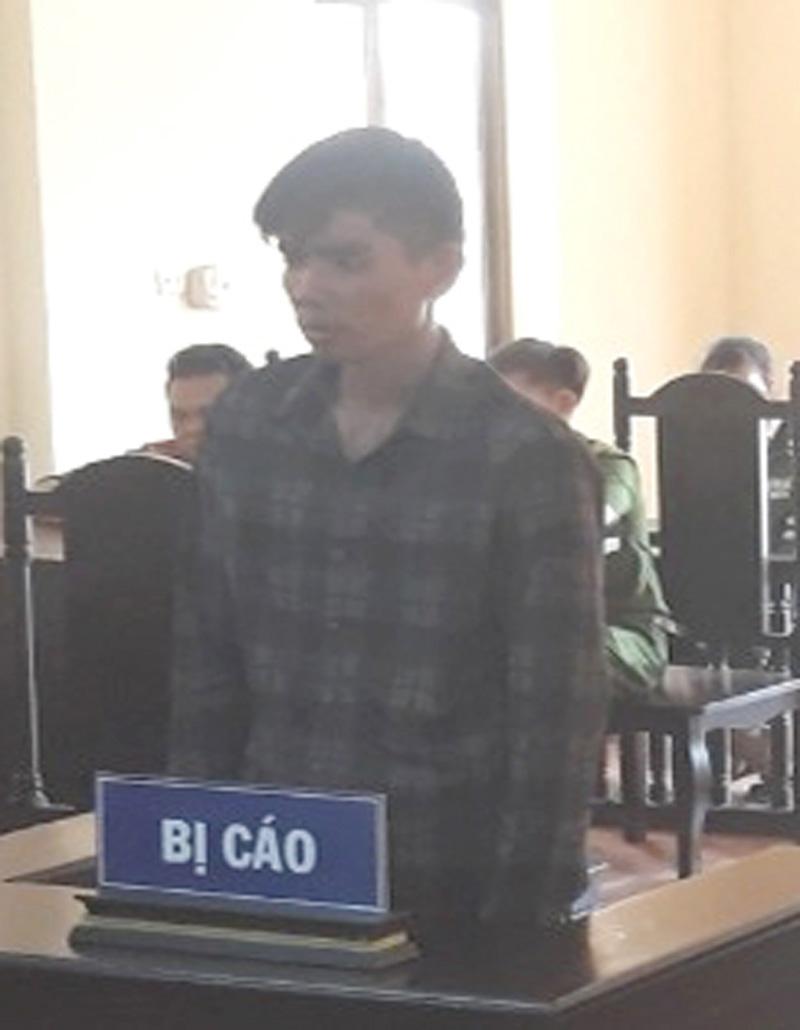 Bị cáo Võ Tấn Thành tại phiên tòa hình sự sơ thẩm.