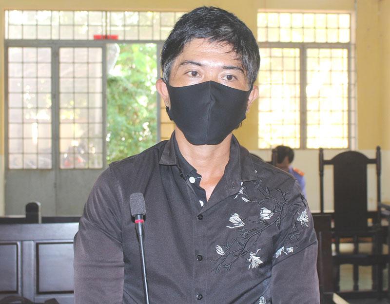 Bị cáo Lê Văn An tại phiên tòa hình sự sơ thẩm ngày 19-5-2020.