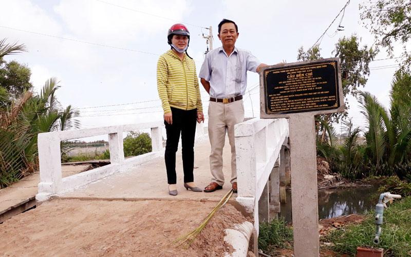 Cầu Bền Chí đưa vào sử dụng đem lại niềm vui cho người dân. Ảnh: Văn Minh