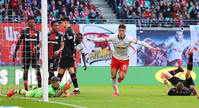 Schick ghi bàn nhưng RB Leipzig không có được trọn vẹn 3 điểm