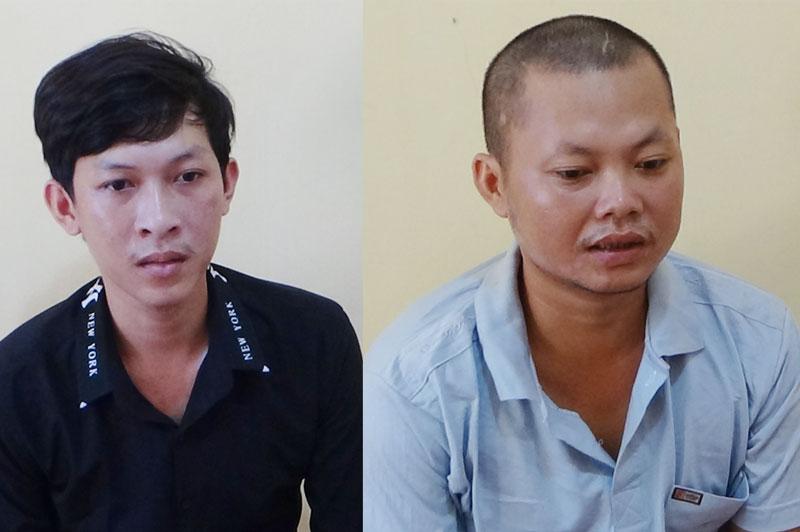 Đối tượng Trần Văn Tuấn (phải) và Trần Võ Minh.