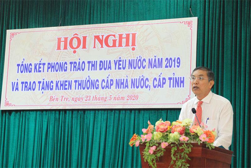 Chủ tịch UBND tỉnh Cao Văn Trọng phát biểu.