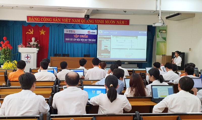 PCBTr tổ chức tập huấn máy tính bảng hỗ trợ công tác khảo sát chiết tính.