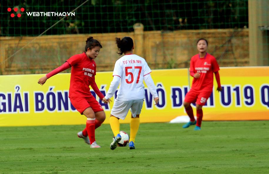 U19 PP Hà Nam 1 không gặp mấy khó khăn để đánh bại đội đàn em U19 PP Hà Nam 2 với tỷ số đậm tới 9-0