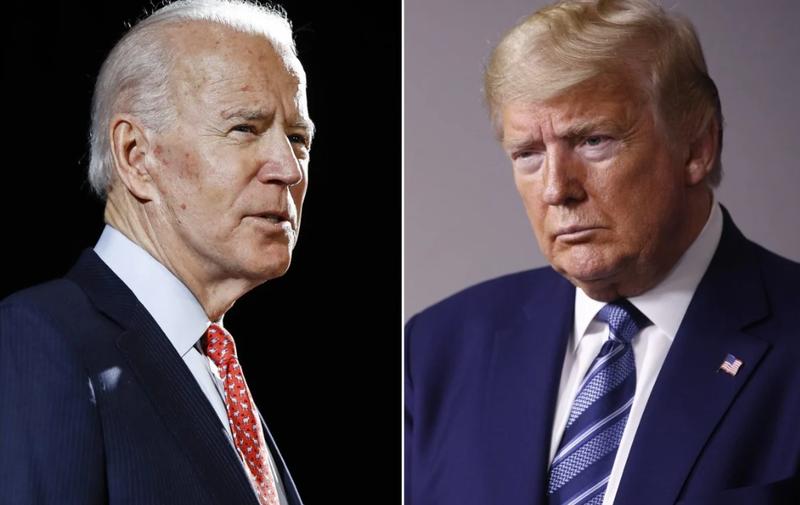 Cựu Phó Tổng thống Joe Biden và Tổng thống Mỹ Donald Trump. Ảnh: Reuters