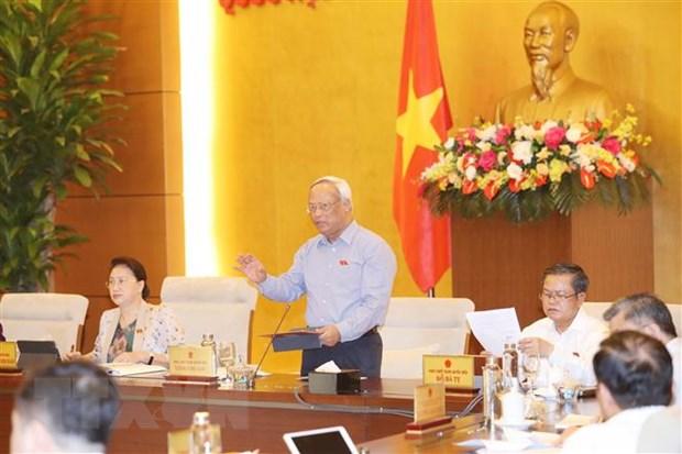 Phó Chủ tịch Quốc hội Uông Chu Lưu phát biểu. (Ảnh: Trọng Đức/TTXVN)